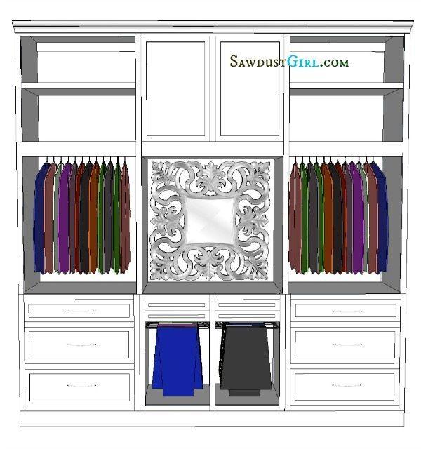Ava 39 s amazing closet remodel sawdust girl for Amazing closet designs