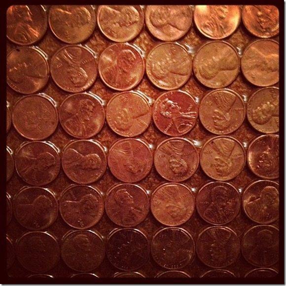 DIY penny mirror
