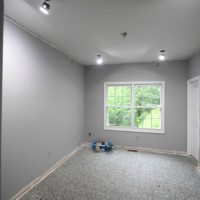 recessed lights in office