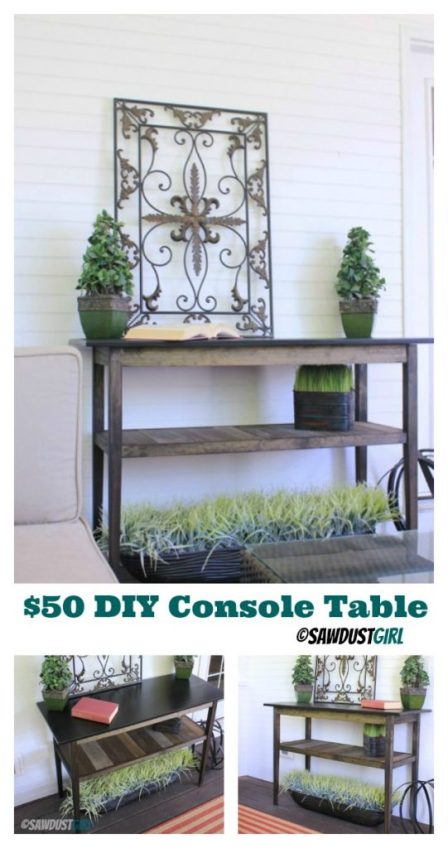 Build it:  $50 Console Table