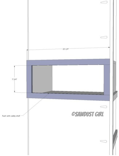 Tower step 8  frame cubby