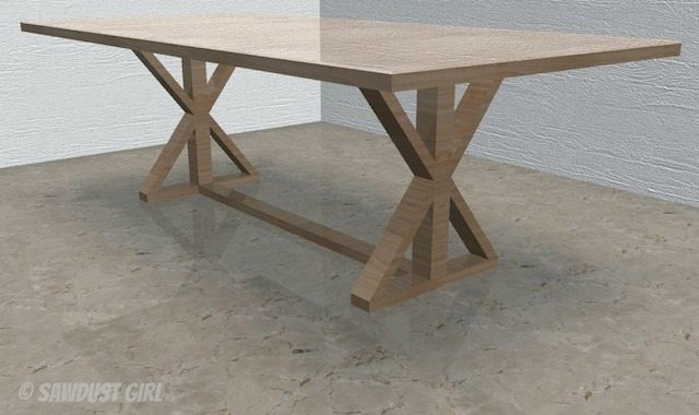 xleg farmhouse table plans
