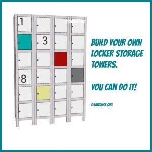 build your own locker storage