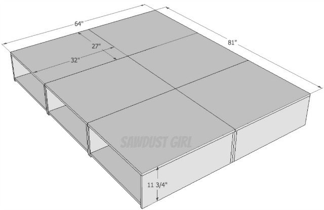 how to build a platform bed free plans