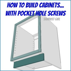 All plans archives page 2 of 3 sawdust girl for Building kitchen cabinets with pocket screws
