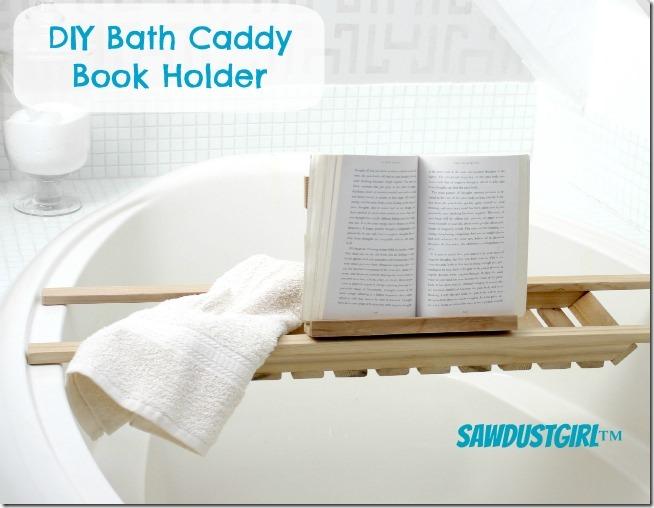 DIY Bath Caddy Book Holder