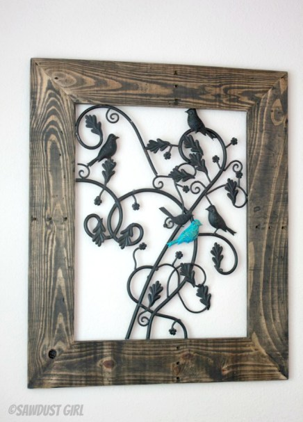 Repurposed Metal Fireplace Screen