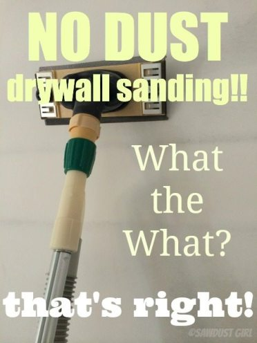 Dust free drywall sanding