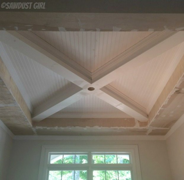 How to build a box beam ceiling sawdust girl for Wood box beam
