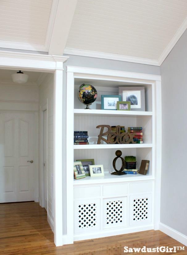 Built-in Bookshelf Dog Crate