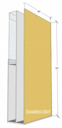 Lumber Storage Unit on Wheels - step7