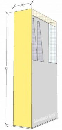 Lumber Storage Unit on Wheels-step4