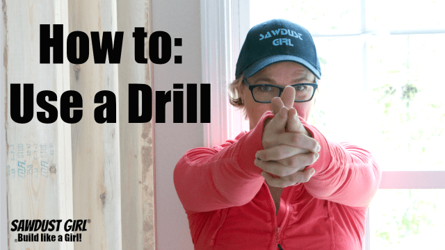 How to use a drill.