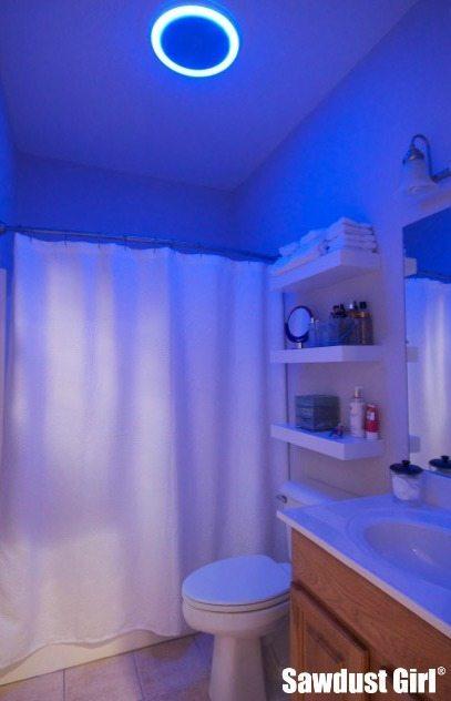 Bluetooth Speaker Led Light Bathroom Fan Giveaway Plus 100gc Sawdust Girl