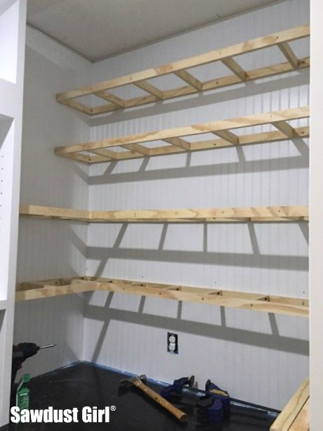Floating shelves for the Pantry