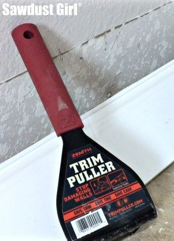 Trim Puller -- Work Smarter tool for easily removing baseboards and trim without damaging your walls.
