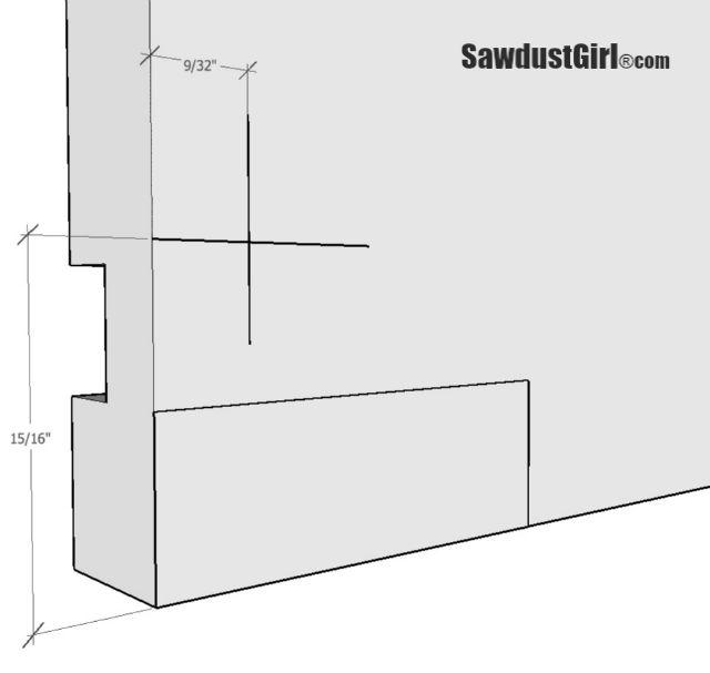 Preparing a drawer for Blum Tandem plus Blumotion 563 Drawer glides