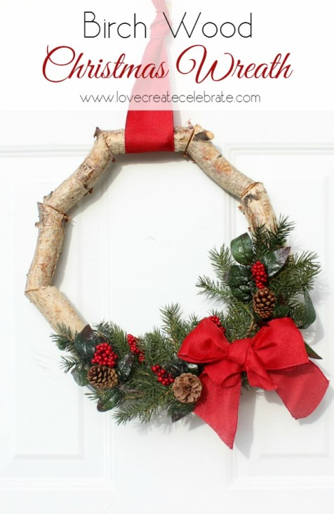 Birch Christmas Wreath