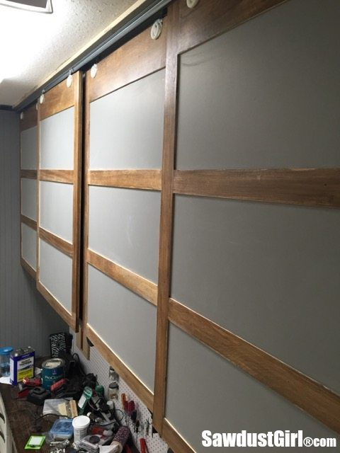Making A Simple Cabinet Door : Easy diy sliding doors for cabinets sawdust girl