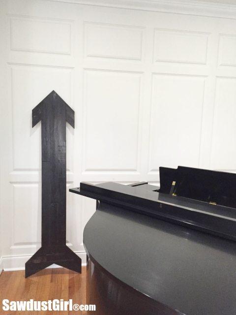 DIY Scrap Wood Arrow - super sized!