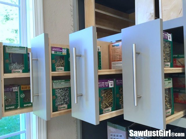 Vertical Storage Drawers for SPAX Fasters