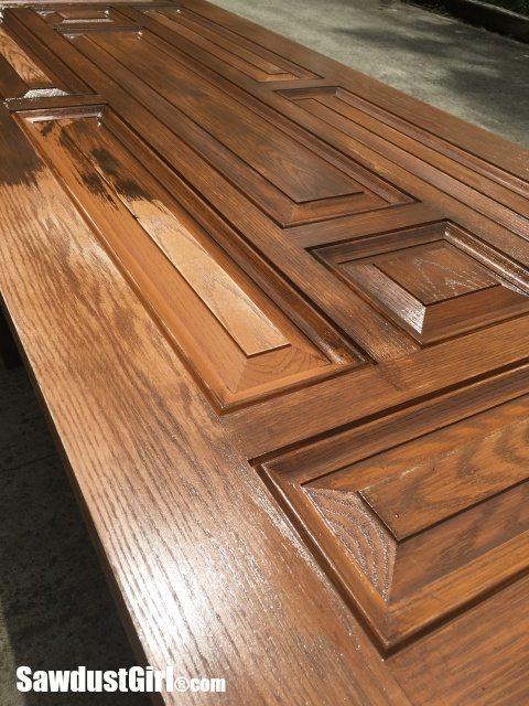 """Chippy Paint Technique on new """"Old Door"""""""