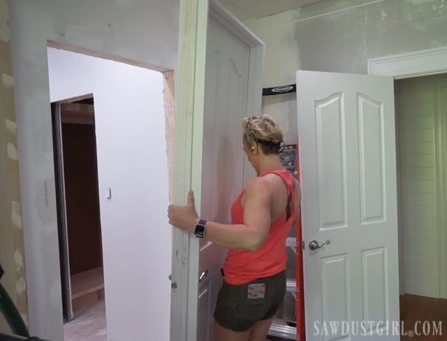 The Door Thief - bathroom progress