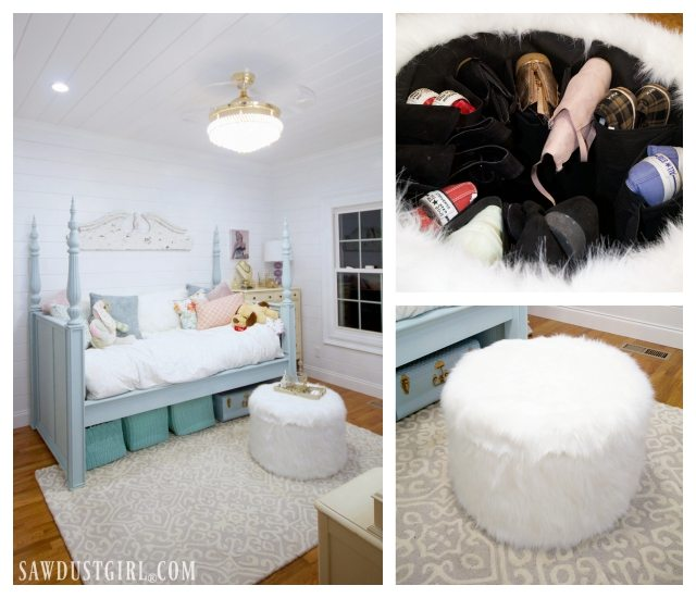 pretty bedroom makeover reveal - small bedroom ideas - sawdust girl®
