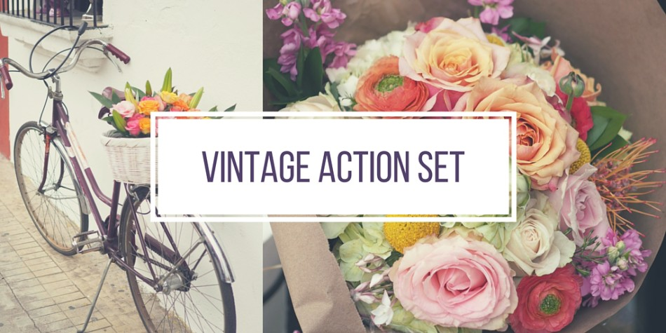 Vintage Photoshop Action Set