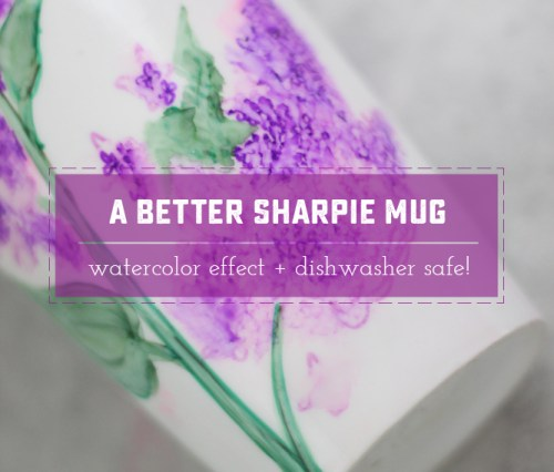 A Better Way to make a Sharpie Mug! More than just coloring a mug and baking it, this method creates a beautiful water color effect, allows you to erase while coloring and uses Dishwasher safe mod podge!   saynotsweetanne.com