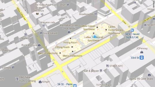 Google Maps indoor layouts