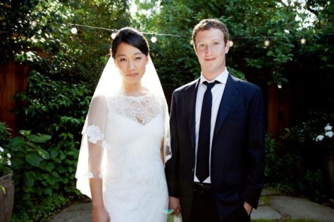 Mark Zuckerberg with Priscilla Chan