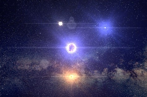 Star system in the Google chrome experiment