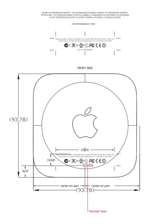 Screen shot of diagram of Apple's new TV