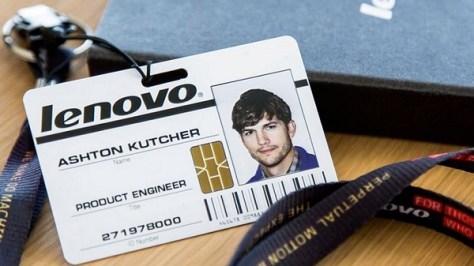 Lenovo and Ashton Kutchr (Credit: Lenovo)