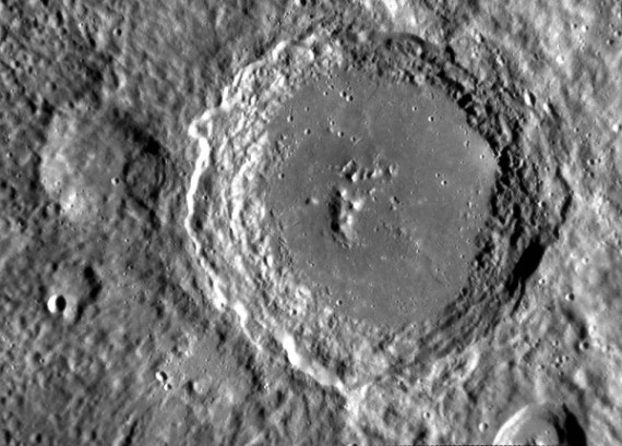 John Lennon Crater on Mercury (Credit: NASA/Johns Hopkins University Applied Physics Laboratory/Carnegie Institution of Washington)