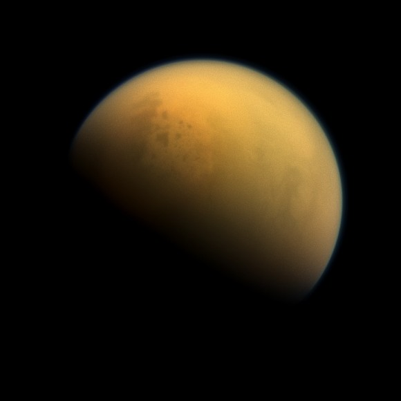 Titan images by Cassini on Oct. 7, 2013 (Credit: NASA/JPL-Caltech/Space Science Institute)