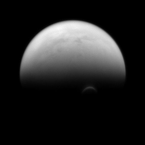 Sunlit Edge of Saturn's Largest Moon, Titan (Image Credit: NASA/JPL-Caltech/Space Science Institute)