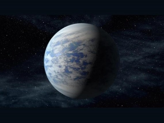 Artist rendition of super-Earth - Kepler-69c (Credit: NASA Ames/JPL-Caltech)