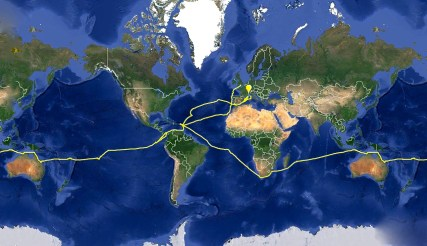Our Route Around the World!