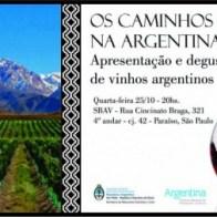 Convite caminhos do vinho