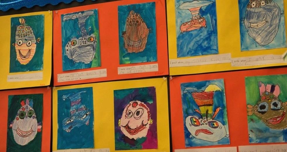 drawings-wall