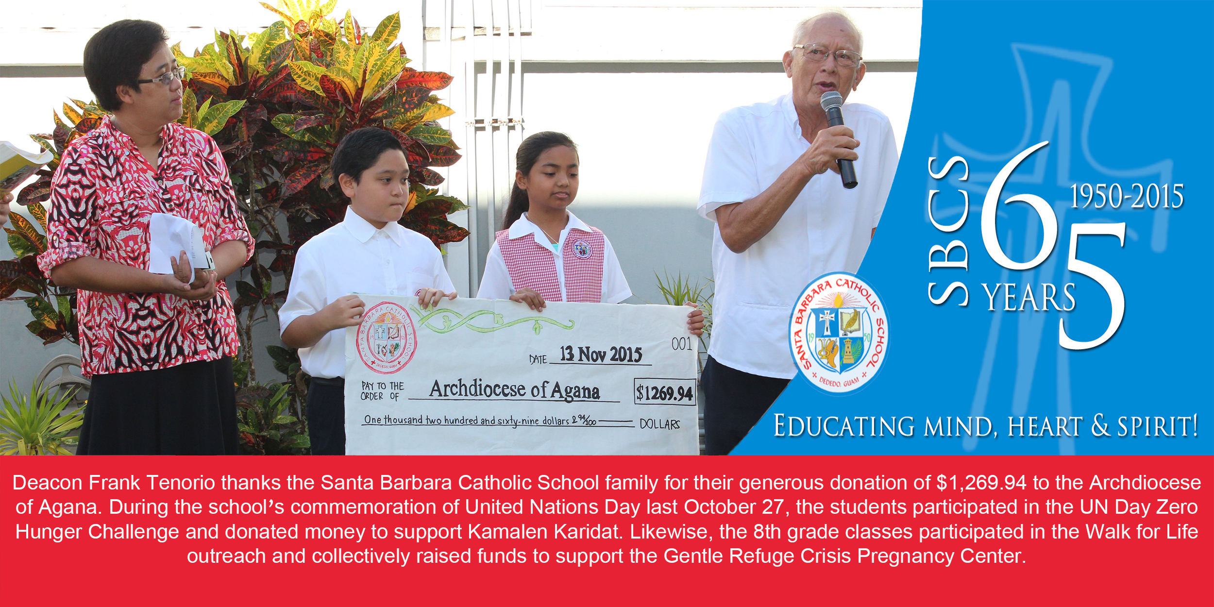 Archdiocese Donation Banner