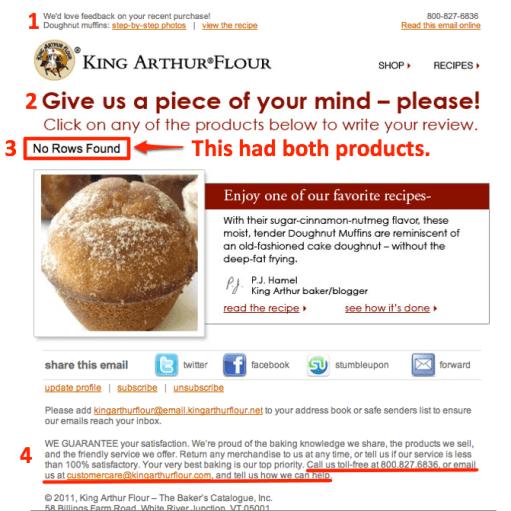 King Arthur Flour Email
