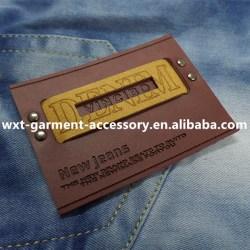 L 40 Fashion Design Metal Jeans Leather Patch Labels for Handbag
