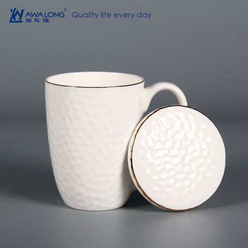 Medium Of Porcelain Coffee Mug With Lid