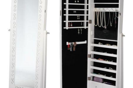 floor jewelry mirror cabinet bedroom cabinet display