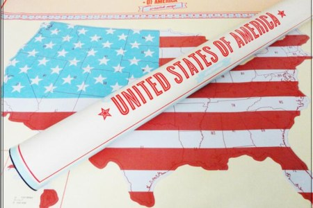 ct 537 map usa carry travel gifts buy ct 537 map usa