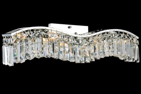 crystal wall mounted plug in lamp for
