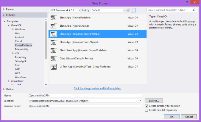 Connecting Xamarin form Application with Dynamics CRM - Microsoft